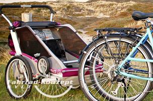Fahrrad Anhänger leihen auf Sylt.