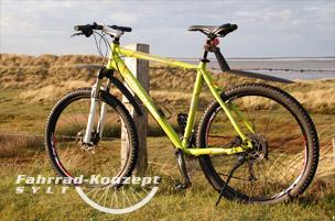 Ihr Mountainbike auf Sylt.