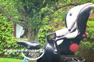 Römer Fahrradsitz Jockey leihen auf Sylt.